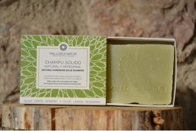 shampoing solide olive citron romarin