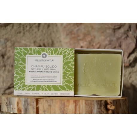 Champú sólido natural de oliva, romero y limón