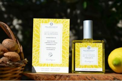 Aceite de almendras dulces virgen ecológico con limon Mallorca