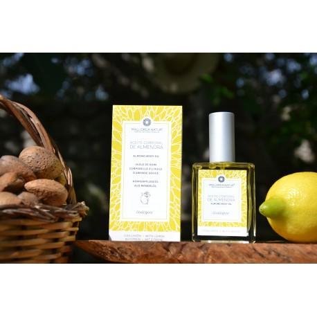 Organic virgin sweet almond oil with lemon from Mallorca 50 ml