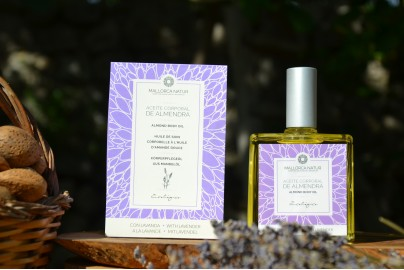 Organic virgin sweet almond body oil with lavender from Mallorca 100 ml