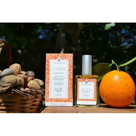 Organic virgin sweet almond and orange body  oil of Mallorca 100 ml