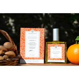 Organic body oil of almond with orange