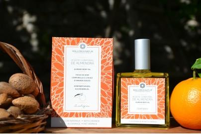 aceite corporal de almendra y naranja ecológico de Mallorca 100 ml