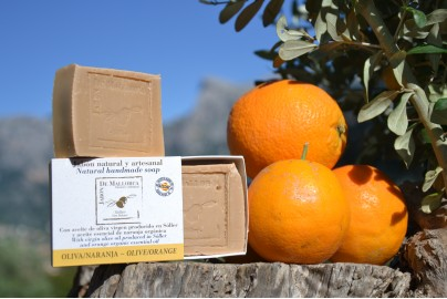 Olive and orange natural soap