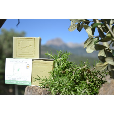 Olive and rosemary natural soap