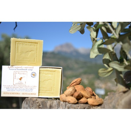 Olive and almond natural soap