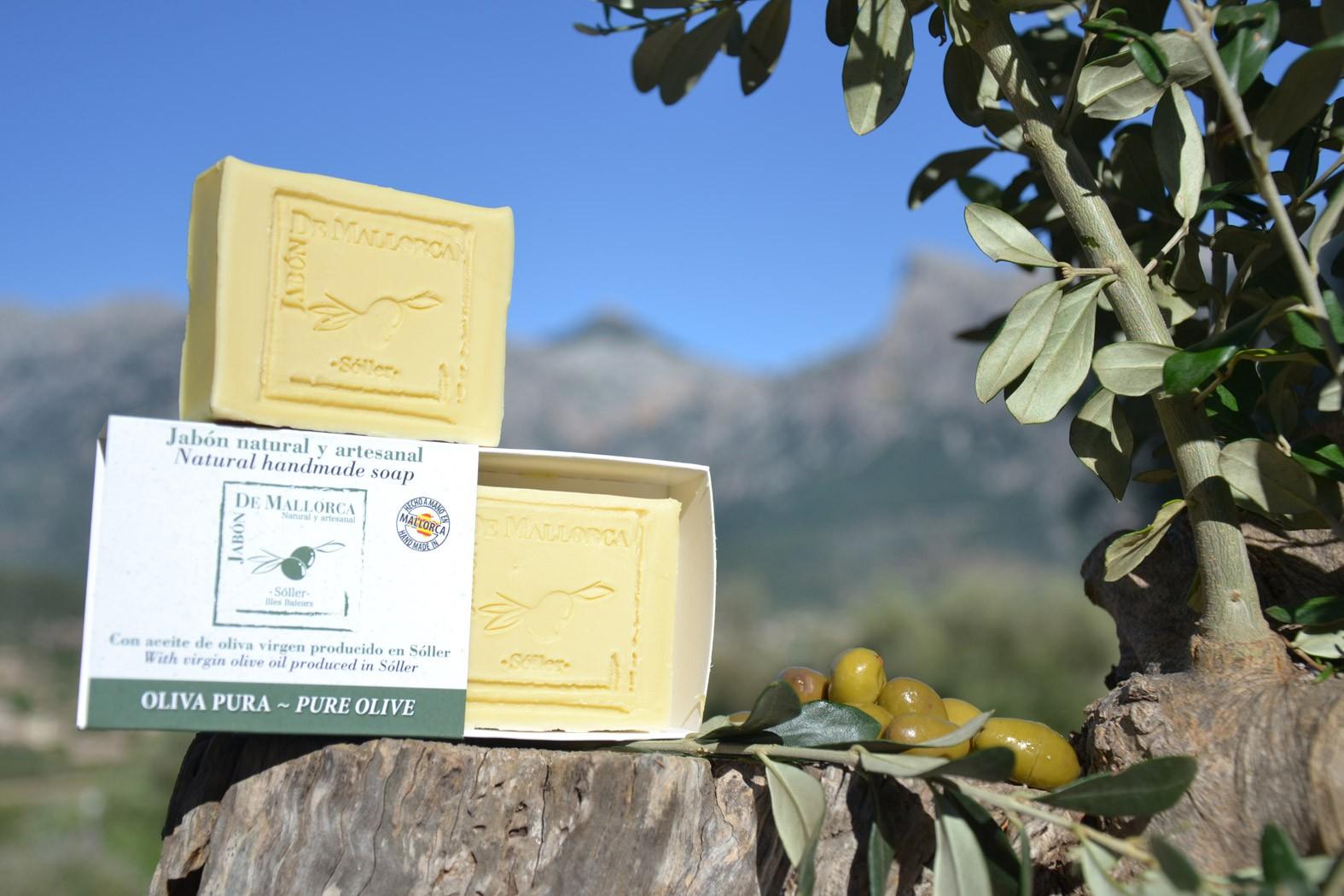 jabónes con aceite de oliva